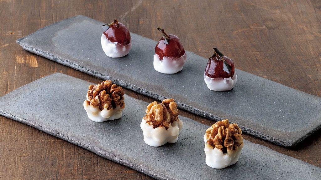 【京の菓子】平安時代の献上菓子の風情をまとって 〜老松 北野店「橙糖珠 胡桃律」