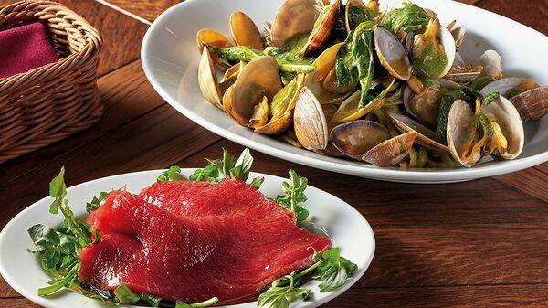 【おすすめランチ】本マグロの前菜をおつまみに。銀座の魚介イタリアン 〜オステリア チケッティ