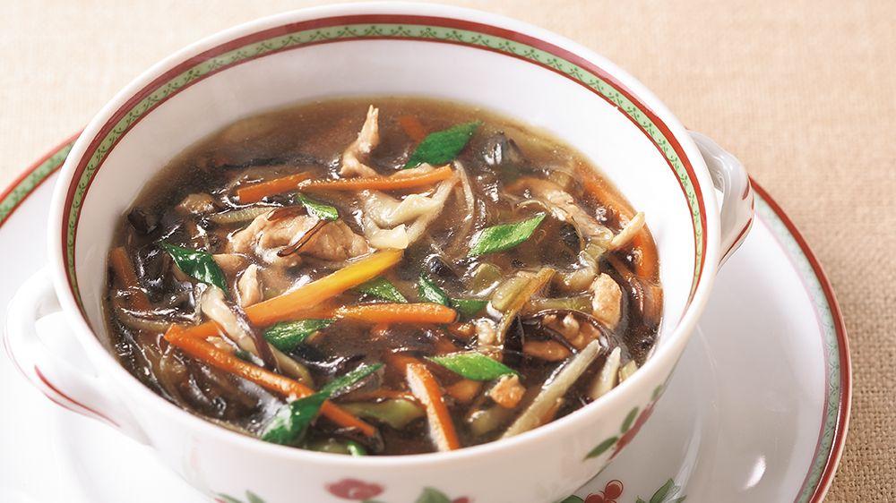 【レシピ】「葛きり入り酸辣湯」体を芯から温める冬の薬膳スープの作り方