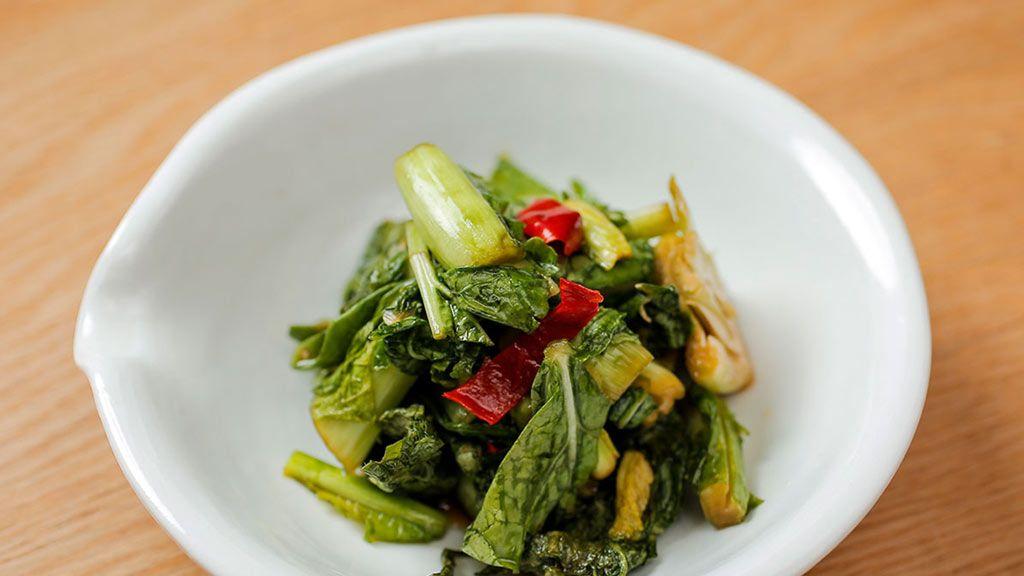 〈手作り漬け物で生きている乳酸菌を摂ろう〉「野沢菜のピリ漬け/大根の味噌漬け/りんごの甘酒スムージー」レシピ