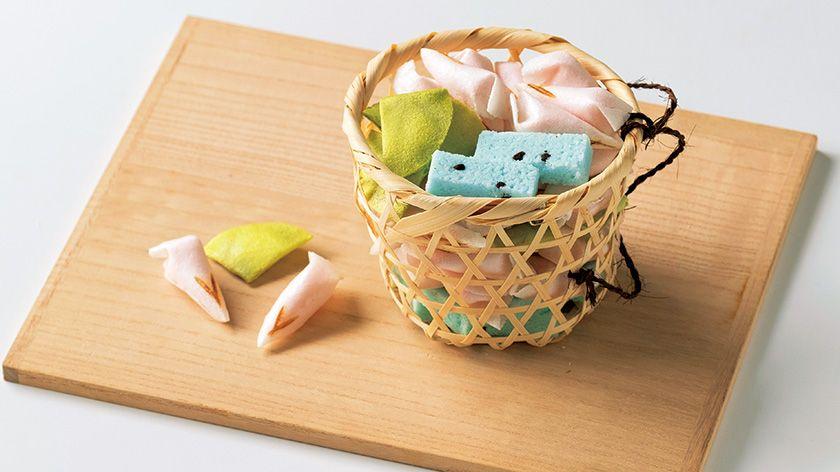 【京の菓子】その愛らしい姿をひと籠に盛り込んで 〜亀屋良永「朝露」