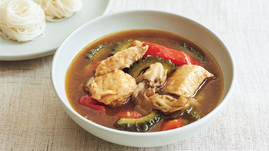 【レシピ】<免疫力を高める>ビタミンD豊富な「かじきとゴーヤーの和風スープカレー」の作り方