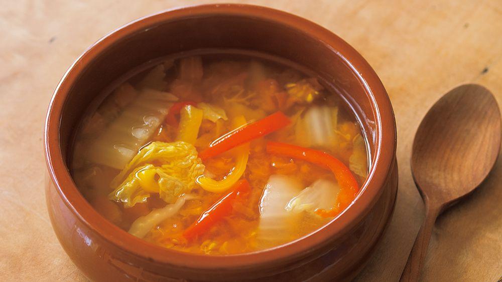 【レシピ】「ストックサラダ《ホエー漬けのトマトスープ》」の作り方