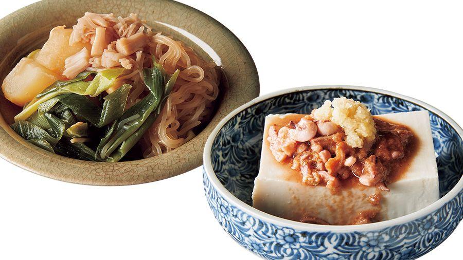 【レシピ】<チャチャッと作る、小皿つまみ>「塩辛奴」と「じゃがいもと帆立の煮もの」