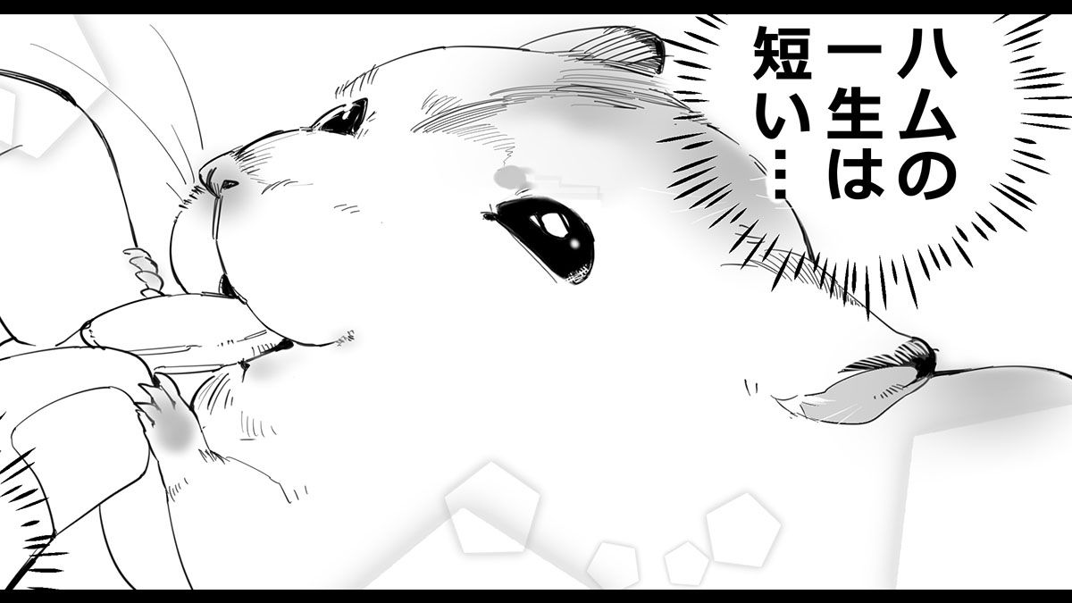 【漫画】魅惑のハムスター、なつく「エサもらえるなら誰でもいい!」