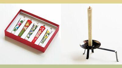 【京小物】夏は涼しげに、冬は暖かに感じられる不思議な魅力 ~丹治蓮生堂 和ろうそく〈四季の花 和蝋燭〉